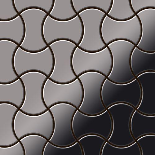 Azulejo mosaico de metal sólido Titanio Smoke espejo gris oscuro 1,6 mm de grosor ALLOY Infinit-Ti-SM diseñado por Karim Rashid 0,91 m2 – Imagen 1