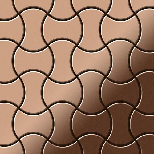 Azulejo mosaico de metal sólido Cobre laminado cobre 1,6 mm de grosor ALLOY Infinit-CM diseñado por Karim Rashid 0,91 m2 – Imagen 1