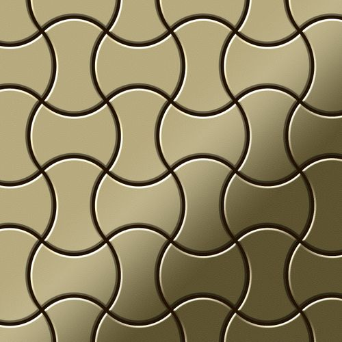 Mosaik Fliese massiv Metall Messing gewalzt in gold 1,6mm stark ALLOY Infinit-BM Designed by Karim Rashid 0,91 m2 – Bild 1