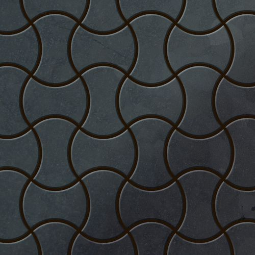 Mosaïque métal massif Carrelage Acier brut laminé gris Grosseur 1,6mm ALLOY Infinit-RS dessiné par Karim Rashid0,91 m2 – Bild 1