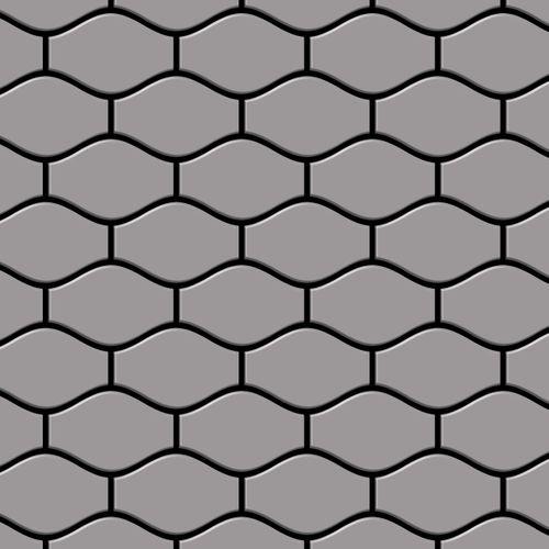 Mozaïektegels massief metaal roestvrij staal matglanzend grijs 1,6 mm dik ALLOY Karma-S-S-MA ontworpen door Karim Rashid – Bild 1