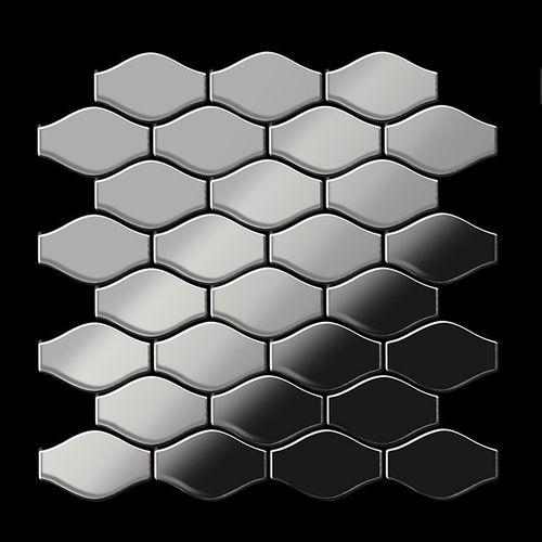 Mozaïektegels massief metaal roestvrij staal Marine hoogglanzend grijs 1,6 mm dik ALLOY Karma-S-S-MM ontworpen door Karim Rashid – Bild 3