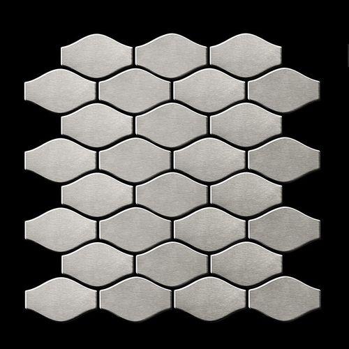 Mozaïektegels massief metaal roestvrij staal Marine geborsteld grijs 1,6 mm dik ALLOY Karma-S-S-MB ontworpen door Karim Rashid – Bild 3