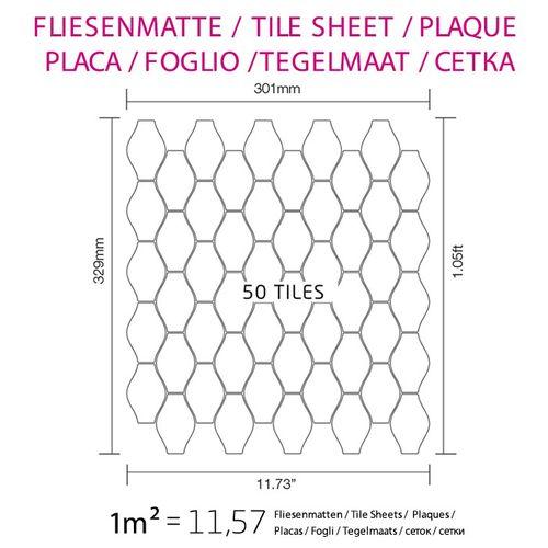 Mozaïektegels massief metaal titaan Smoke hoogglanzend grijs 1,6 mm dik ALLOY Karma-Ti-SM ontworpen door Karim Rashid – Bild 4