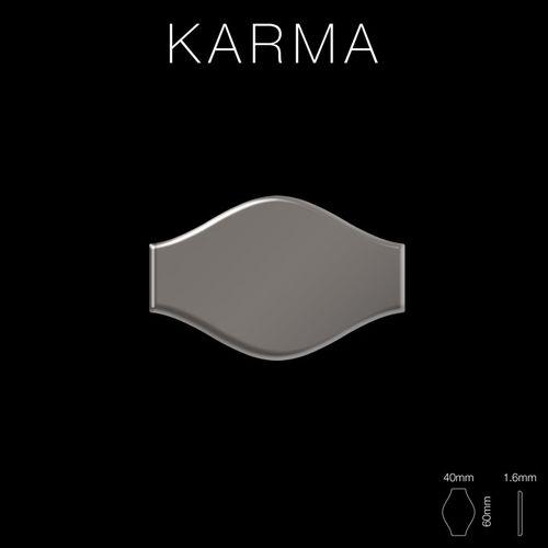 Mozaïektegels massief metaal titaan Smoke hoogglanzend grijs 1,6 mm dik ALLOY Karma-Ti-SM ontworpen door Karim Rashid – Bild 2