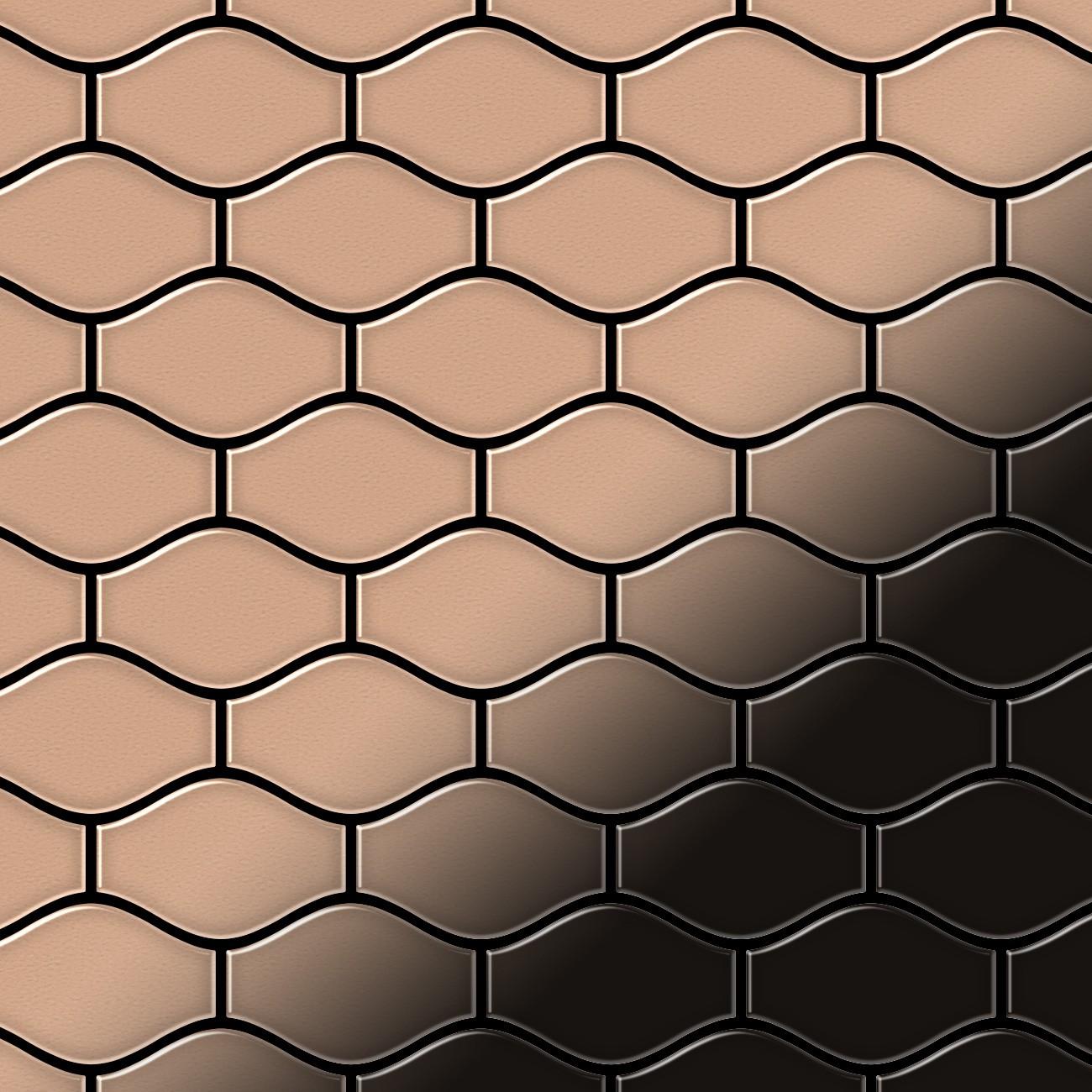 mosaik fliese massiv metall kupfer gewalzt in kupfer 1 6mm stark alloy karma cm designed by. Black Bedroom Furniture Sets. Home Design Ideas