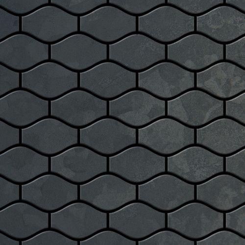 Mosaik Fliese massiv Metall Rohstahl gewalzt in grau 1,6mm stark ALLOY Karma-RS Designed by Karim Rashid 0,86 m2 – Bild 1