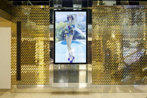 Azulejo mosaico de metal sólido Acero inoxidable pulido espejo gris 1,6 mm de grosor ALLOY Kink-S-S-M diseñado por Karim Rashid 0,93 m2 – Imagen 5