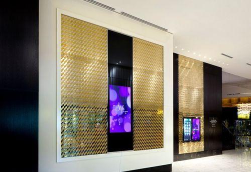 Azulejo mosaico de metal sólido Acero inoxidable Marine cepillado gris 1,6 mm de grosor ALLOY Kink-S-S-MB diseñado por Karim Rashid 0,93 m2 – Imagen 7