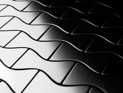 Mosaïque métal massif Carrelage Acier inoxydable brossé gris Grosseur 1,6mm ALLOY Kismet-S-S-B dessiné par Karim Rashid0,86 m2 – Bild 4