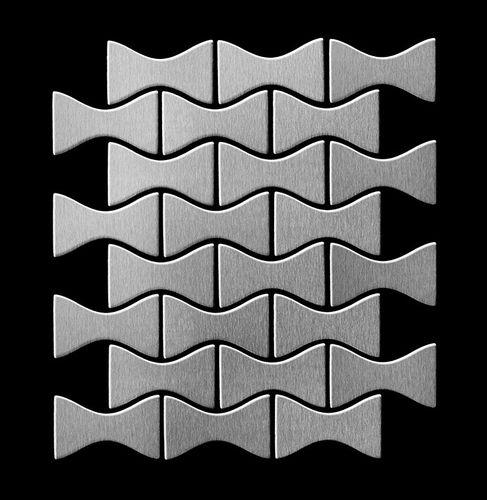 Mosaïque métal massif Carrelage Acier inoxydable Marine brossé gris Grosseur 1,6mm ALLOY Kismet-S-S-MB dessiné par Karim Rashid0,86 m2 – Bild 3