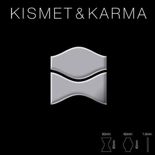 Mosaik Fliese massiv Metall Edelstahl hochglänzend in grau 1,6mm stark ALLOY Kismet & Karma-S-S-M Designed by Karim Rashid 0,86 m2 – Bild 2