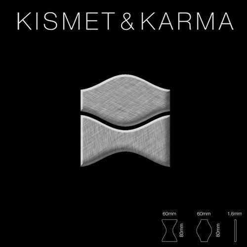 Mosaik Fliese massiv Metall Edelstahl marine gebürstet in grau 1,6mm stark ALLOY Kismet & Karma-S-S-MB Designed by Karim Rashid 0,86 m2 – Bild 2