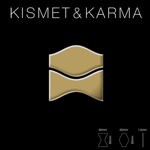 Mosaik Fliese massiv Metall Titan hochglänzend in gold 1,6mm stark ALLOY Kismet & Karma-Ti-GM Designed by Karim Rashid 0,86 m2 – Bild 2