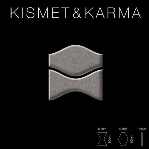 Mosaik Fliese massiv Metall Titan gebürstet in dunkelgrau 1,6mm stark ALLOY Kismet & Karma-Ti-SB Designed by Karim Rashid 0,86 m2 – Bild 2