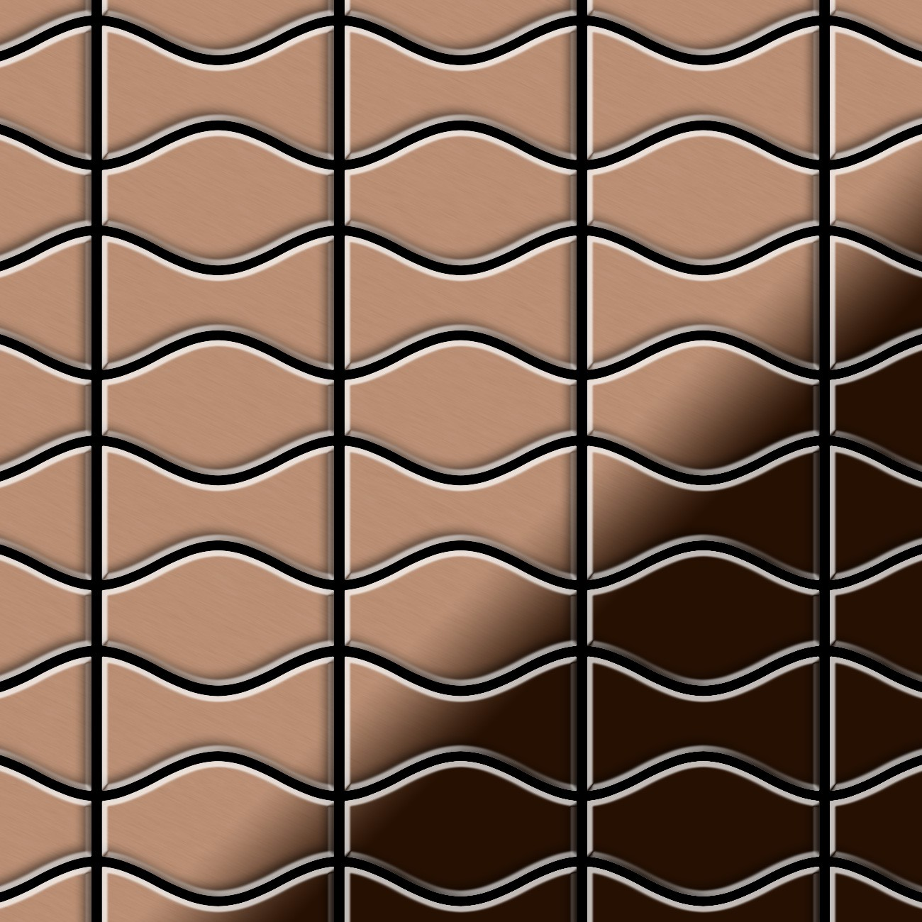 mosaik fliese massiv metall kupfer gewalzt kupfer 1 6mm kismet karma cm ebay. Black Bedroom Furniture Sets. Home Design Ideas