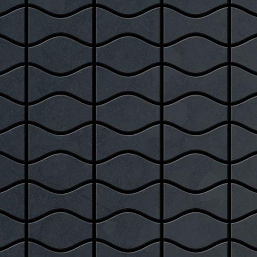 Mosaik Fliese massiv Metall Rohstahl gewalzt in grau 1,6mm stark ALLOY Kismet & Karma-RS Designed by Karim Rashid 0,86 m2 – Bild 1