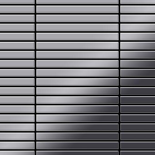 Azulejo mosaico de metal sólido Acero inoxidable pulido espejo gris 1,6 mm de grosor ALLOY Linear-S-S-M 0,94 m2 – Imagen 1