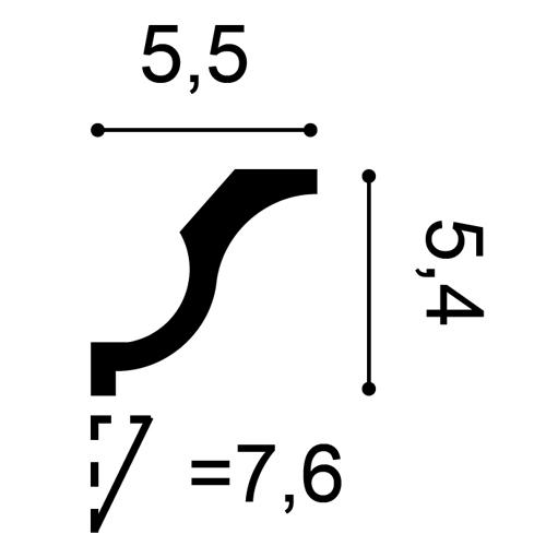 Zierleiste Profilleiste Orac Decor CX108 AXXENT Stuck Profil Eckleiste Wand Leiste Decken Leiste | 2 Meter – Bild 2