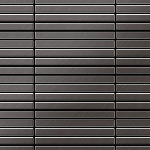 Azulejo mosaico de metal sólido Titanio Smoke cepillado gris oscuro 1,6 mm de grosor ALLOY Linear-Ti-SB 0,94 m2 – Imagen 1