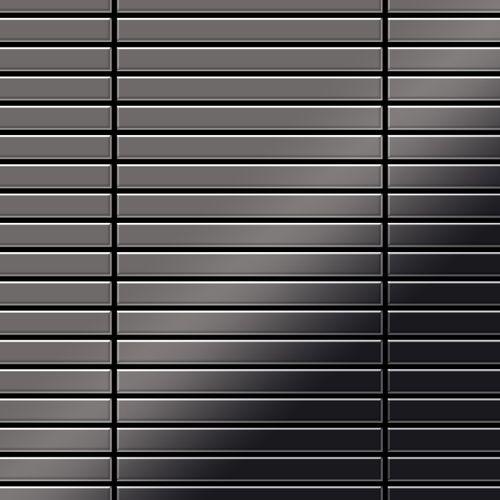 Azulejo mosaico de metal sólido Titanio Smoke espejo gris oscuro 1,6 mm de grosor ALLOY Linear-Ti-SM 0,94 m2 – Imagen 1