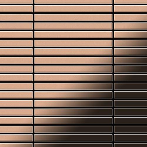 Mosaïque métal massif Carrelage Cuivre laminé cuivre Grosseur 1,6mm ALLOY Linear-CM 0,94 m2 – Bild 1