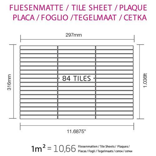 Mozaïektegels massief metaal gewalst ruw staal grijs 1,6 mm dik ALLOY Linear-RS  – Bild 6
