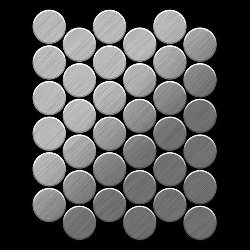 Mozaïektegels massief metaal roestvrij staal geborsteld grijs 1,6 mm dik ALLOY Medallion-S-S-B – Bild 3