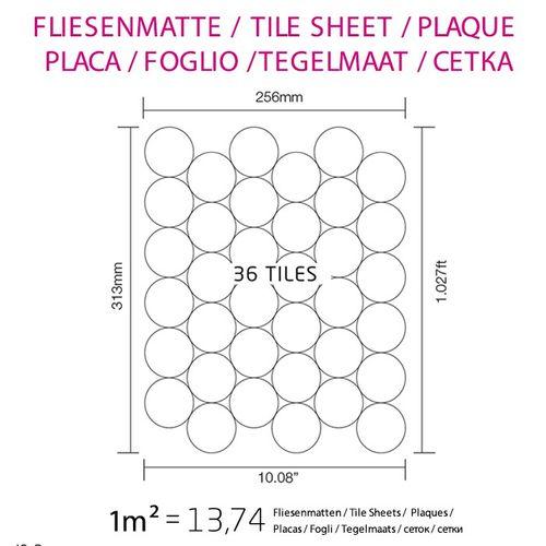 Mosaik Fliese massiv Metall Edelstahl hochglänzend in grau 1,6mm stark ALLOY Medallion-S-S-M 0,73 m2 – Bild 4