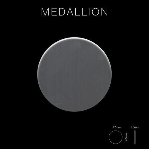 Mosaik Fliese massiv Metall Edelstahl hochglänzend in grau 1,6mm stark ALLOY Medallion-S-S-M 0,73 m2 – Bild 2