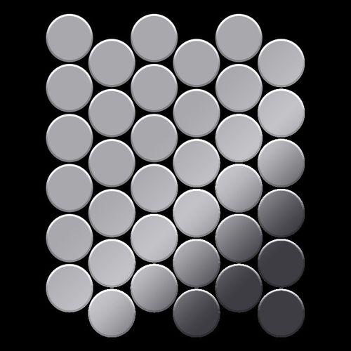 Mosaik Fliese massiv Metall Edelstahl hochglänzend in grau 1,6mm stark ALLOY Medallion-S-S-M 0,73 m2 – Bild 3
