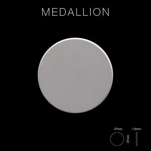 Mosaik Fliese massiv Metall Edelstahl matt in grau 1,6mm stark ALLOY Medallion-S-S-MA 0,73 m2 – Bild 2