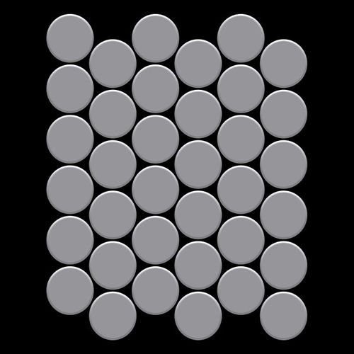 Mosaik Fliese massiv Metall Edelstahl matt in grau 1,6mm stark ALLOY Medallion-S-S-MA 0,73 m2 – Bild 3