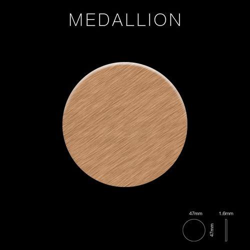 Mosaik Fliese massiv Metall Titan gebürstet in kupfer 1,6mm stark ALLOY Medallion-Ti-AB 0,73 m2 – Bild 2