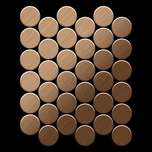 Mosaik Fliese massiv Metall Titan gebürstet in kupfer 1,6mm stark ALLOY Medallion-Ti-AB 0,73 m2 – Bild 3