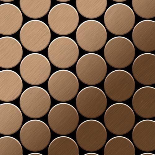 Mosaik Fliese massiv Metall Titan gebürstet in kupfer 1,6mm stark ALLOY Medallion-Ti-AB 0,73 m2 – Bild 1