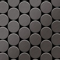 Metal Mosaic Tile Titanium Smoke brushed 1,6mm Medallion-Ti-SB