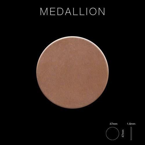Mozaïektegels massief metaal gewalst koper koperrood 1,6 mm dik ALLOY Medallion-CM – Bild 2