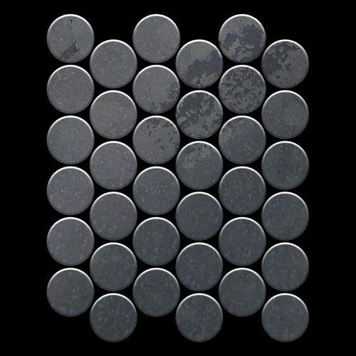 Mosaïque métal massif Carrelage Acier brut laminé gris Grosseur 1,6mm ALLOY Medallion-RS 0,73 m2 – Bild 3