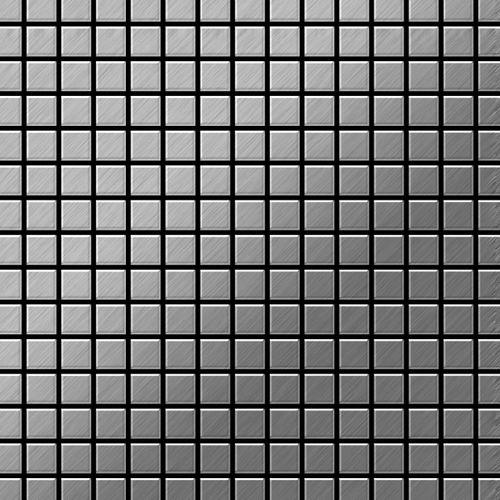 Mosaik Fliese massiv Metall Edelstahl gebürstet in grau 1,6mm stark ALLOY Mosaic-S-S-B 1,04 m2 – Bild 1