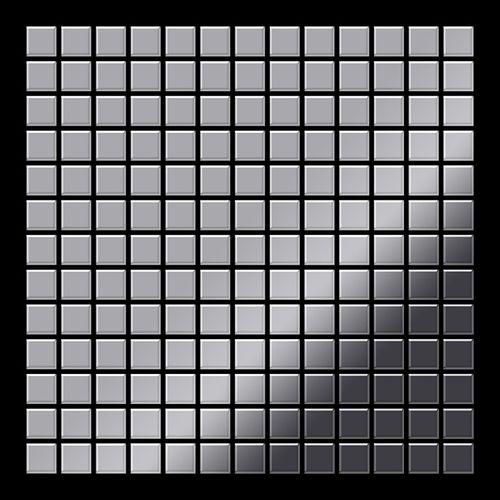Mosaïque métal massif Carrelage Acier inoxydable miroir gris Grosseur 1,6mm ALLOY Mosaic-S-S-M 1,04 m2 – Bild 3
