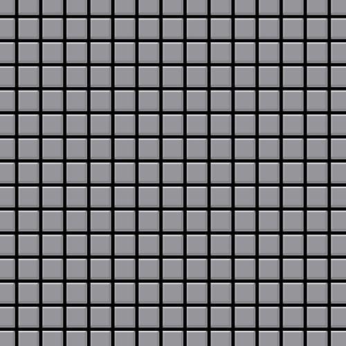 Mosaik Fliese massiv Metall Edelstahl matt in grau 1,6mm stark ALLOY Mosaic-S-S-MA 1,04 m2 – Bild 1