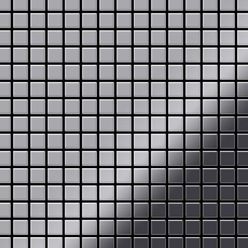 Azulejo mosaico de metal sólido Acero inoxidable Marine pulido espejo gris 1,6 mm de grosor ALLOY Mosaic-S-S-MM 1,04 m2
