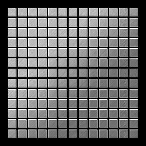 Mosaico metallo solido Acciaio inossidabile Marine spazzolato grigio spesso 1,6 mm ALLOY Mosaic-S-S-MB – Bild 3