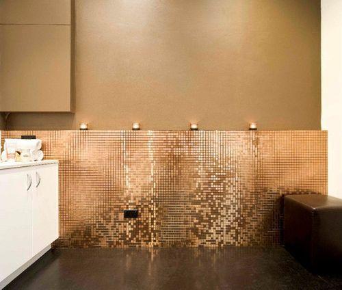 Mosaïque métal massif Carrelage Titane brossé Amber cuivre Grosseur 1,6mm ALLOY Mosaic-Ti-AB 1,04 m2 – Bild 4
