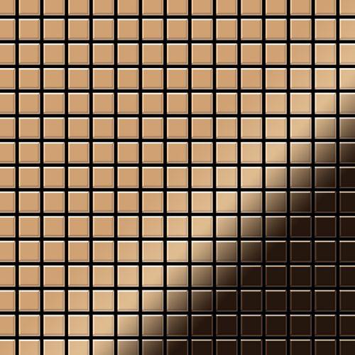 Mosaïque métal massif Carrelage Titane miroir Amber cuivre Grosseur 1,6mm ALLOY Mosaic-Ti-AM 1,04 m2 – Bild 1