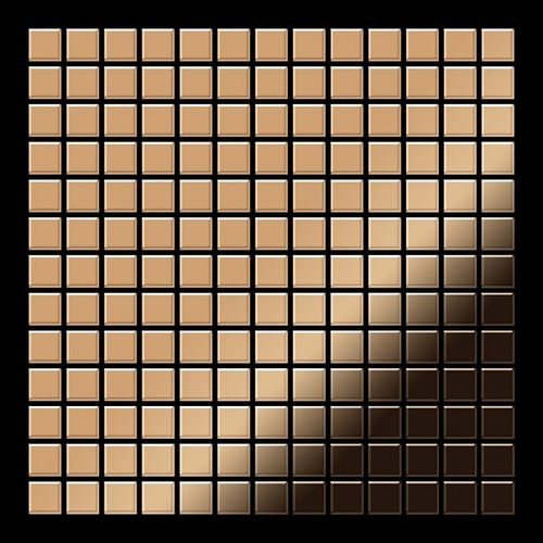 Mosaïque métal massif Carrelage Titane miroir Amber cuivre Grosseur 1,6mm ALLOY Mosaic-Ti-AM 1,04 m2 – Bild 3