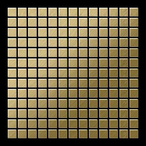 Mosaïque métal massif Carrelage Titane brossé Gold doré Grosseur 1,6mm ALLOY Mosaic-Ti-GB 1,04 m2 – Bild 3