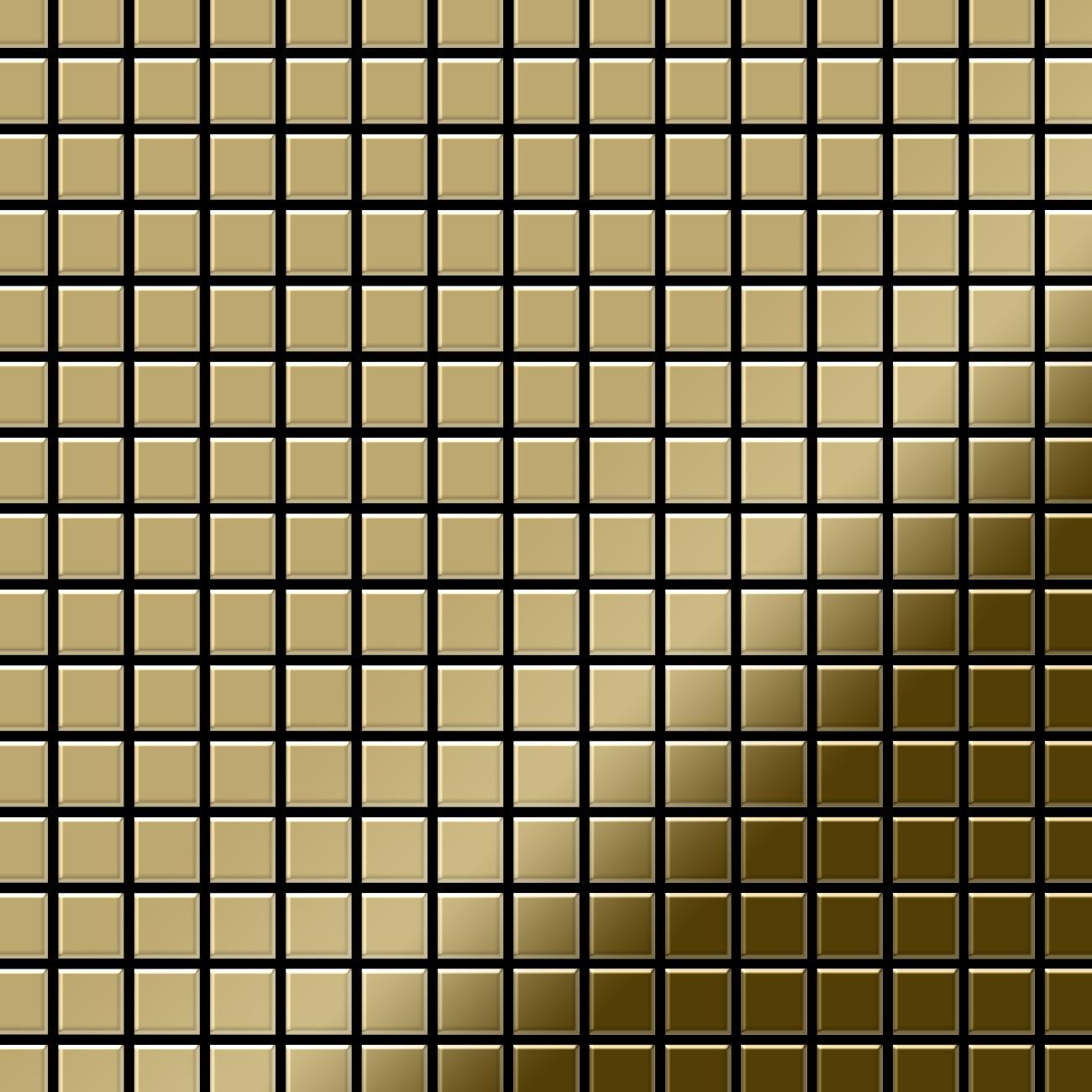 mosaik fliese massiv metall titan hochgl nzend gold 1 6mm. Black Bedroom Furniture Sets. Home Design Ideas