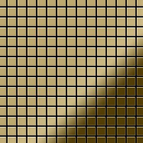 Mosaïque métal massif Carrelage Titane miroir Gold doré Grosseur 1,6mm ALLOY Mosaic-Ti-GM 1,04 m2 – Bild 1